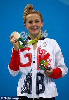 Siobhan picking up her silver medal at Rio