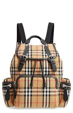 2a6784f6f55a BURBERRY Designer Medium Rucksack Check Cotton Backpack