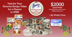 For a chance to win a $2000 Grand Prize, vote for any of our new, tasty, Southern-styled recipe videos. They're fun twists on comfort foods favorites and easy to prepare with Pioneer®