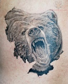 wildlife tattoos | Grizzly Bear Wildlife Tattoo