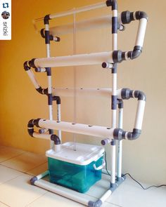 Repost shoutout to @srizki! Cool system! Can't wait to see it in action! Delivered!! to South Jakarta NFT / DFT Hydroponic