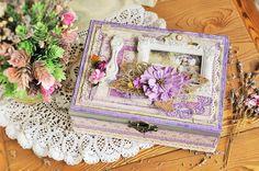 Бумага и Мышонок: Сиреневая чайная коробочка