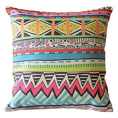 Lovely Stripes Decorative Pillow Cover - USD $ 14.99