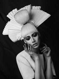 ♂ black & white Asian inspired fashion photographic