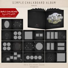 Simple Chalkboard Album, 10-spread album (20 12x12 pages) and 1 cover $10