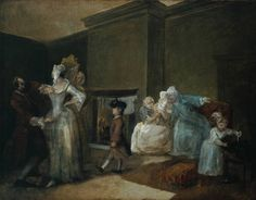 The Staymaker (The Happy Marriage V: The Fitting of the Ball Gown) William Hogarth; The Tate 18th Century Stays, 19th Century, William Hogarth, Art Fund, London Tours, English Artists, Happy Marriage, Arts And Crafts Supplies, Oil On Canvas