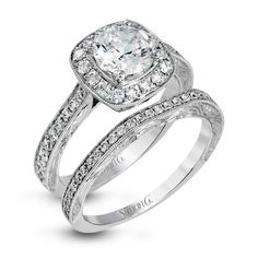 Gorgeous vintage inspired wedding ring design! This is from the Simon G. passion collection.
