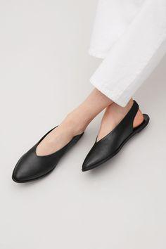 COS image 5 of Slingback sandals in Black
