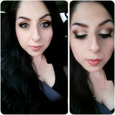 """Gold Smokey Eyes: Featuring the Stila """"In The Light"""" Palette"""