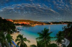 Huatulco Mexico....hot hot hot! Very beautiful, quiet place to go.
