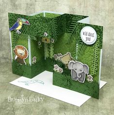 A Little Wild, Bird Banter, Double Pop-Up, Gate Fold, Box Card Tutorial, addinktive designs, Stampin' Up! ®