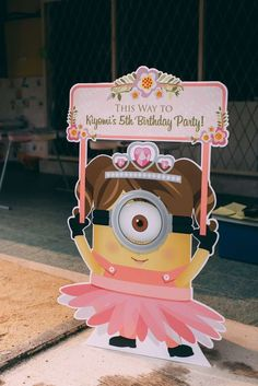 Decoração de Festa Minions Rosa Birthday Party Decoration Ideas