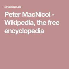 Peter MacNicol - Wikipedia, the free encyclopedia