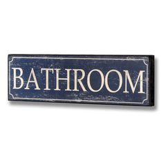 Found it at Wayfair.co.uk - Bathroom Plaque in Blue