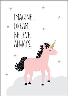 Dream Unicorn Print More