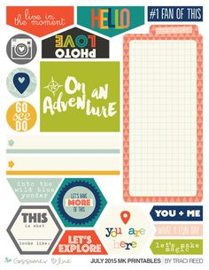 GossamerBlue.com JULY 2015 exclusive Gossamer Blue printable files (featured at scrapclubs.com)