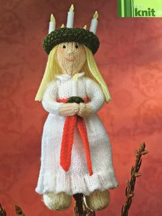 Excited to share the latest addition to my #etsy shop: Alan Dart's Santa Lucia Knitting Pattern Vintage Sewing Patterns, Knitting Patterns, Christmas Angels, Christmas Ornaments, Swedish Traditions, Alan Dart, Light Angel, Santa Lucia, Stuffed Toys Patterns