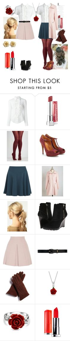 """""""same shirt diffrent look"""" by d-cuevas ❤ liked on Polyvore featuring RED Valentino, Maybelline, Gucci, Maria Grachvogel, Boohoo, 10 Crosby Derek Lam, Alexander McQueen, Lauren Ralph Lauren, FRR and Bling Jewelry"""