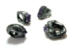 the ugly ugly ..raw amethyst raw rings -      by Neva Balnikova