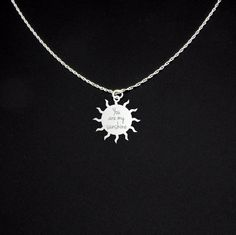 You Are My Sunshine Necklace  Sterling by McLaughlinCreations