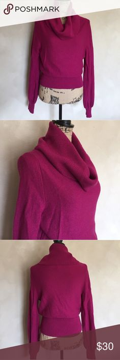 "Patagonia turtle neck sweater Patagonia turtle neck sweater. Size large. Approximate length when on a hanger is 27"" and approximate chest measurement is 18"". Sweater does have some stretch. The color is a dark pink shade. Excellent condition! Patagonia Sweaters Cowl & Turtlenecks"