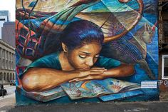 Artists and readers go hand in hand.  Check out these 6 beautiful book-related murals.