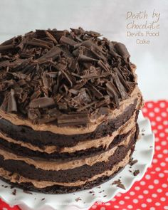 Death by Chocolate-Devils Food Cake - Chocolate Chocolate and More! Death by Chocolate-Devils Food Cake - Chocolate Chocolate and More! Devils Food, Food Cakes, Cupcake Cakes, Cupcakes, Just Desserts, Delicious Desserts, Yummy Food, Cake Recipes, Dessert Recipes