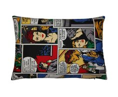Kussenhoes Cartoon, multicolor, 35 x 50 cm | Westwing Home & Living