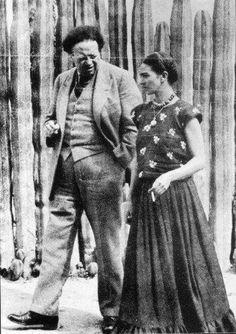 Frida Kahlo y Diego Rivera    Martin Munkácsi 1934