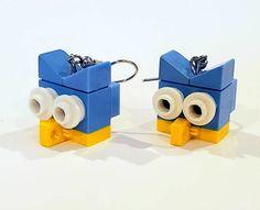 Owl Earrings, Etsy Earrings, Owl Head, Lego System, Open Rose, Lego Group, Lego Models, Light Blue, Awesome