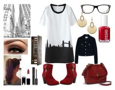 """""""A Walk in A City"""" by mikage44 on Polyvore featuring Essie, Ray-Ban, Ralph Lauren, Michael Kors, Acne Studios, Chanel and Urban Decay"""