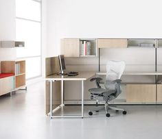 Canvas Office Landscape with Mirra chair  - Herman Miller