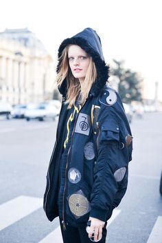 Model Street Style at Paris Fashion Week Fall 2015   POPSUGAR Fashion