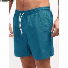 93cd3978e1 INCERUN Quick Dry Men Shorts Board Shorts Male Loose Elastic Waist  Bodybuilding Workout Bermuda Plus Size Casual Bottom Clothing