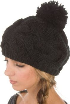 5be3e32e4f4 Sakkas Cable Knitted with Pom Pom Thick Slouch Fashion Beanie Winter Hat