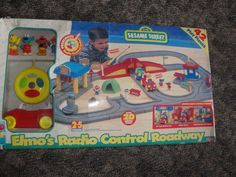 Elmo's Radio Control Roadway FP/Tyco Car Track Playset Sesame Street NRFB #FisherPriceTYCO