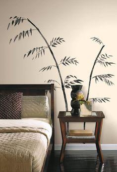Adu acasă o atingere a Orientului cu aceste ramuri senine de bambus negru!  Fiecare element a fost realizat de mana într-un stil pictural clasic  #stickerflower, #stickerblackbamboo, #stickerbamboo