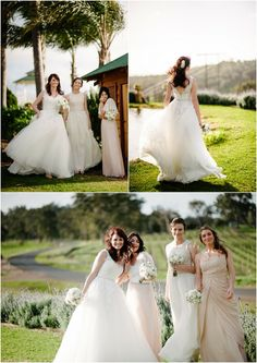 gorgeous bride and bridesmaids