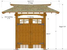 Japanese Gate Plans Gate design by Karl Daizen Joinery Zen