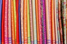 Beautiful Colors of Thai Silk - Visit http://asiaexpatguides.com and make the most of your experience in Thailand!