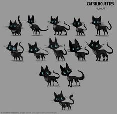 Sidhe - Character Development 03 - Silhouettes by Cryptid-Creations.deviantart.com on @deviantART