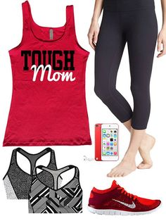 Tough Mom. Workout tank by Enlightened State Apparel