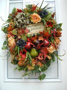 Fall Autumn Halloween Thanksgiving Arrangement....so pretty
