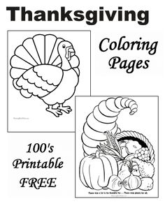 Kids Thanksgiving coloring pages!