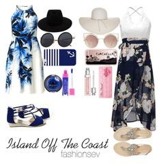 """""""Island Off The Coast"""" by fashionsev ❤ liked on Polyvore featuring Adrianna Papell, Antik Batik, MANGO, Nine West, rag & bone, Casetify, Christian Dior, Sugarpill, tropical and twopeople"""
