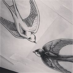 #drawing #dotwork #fineliner #swallow #mcnuggets