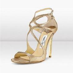 562ea103ffc6 Jimmy Choo Dart Glitter Sandals Light Gold
