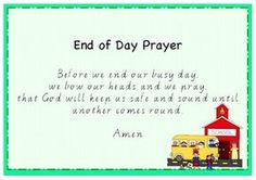 Four classroom prayer posters. One prayer poster for beginning of the day, morning tea, lunch and end of day prayer. Posters are made in ready to print. Preschool Bible, Preschool Lessons, Preschool Classroom, Preschool Learning, Teaching, Bible Activities, Kindergarten Class, Therapy Activities, Preschool Activities