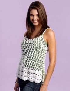 Easy Tank Top | Yarn | Free Knitting Patterns | Crochet Patterns | Yarnspirations
