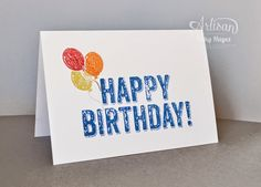 Stampin' Up ideas and supplies from Vicky at Crafting Clare's Paper Moments: Birthday Surprise pop up card for a boy - Stampin'...